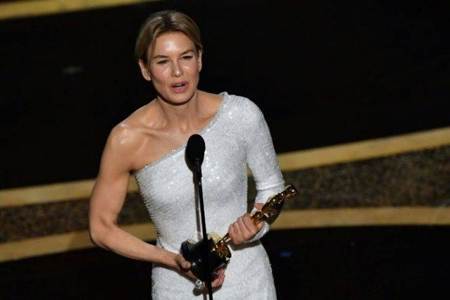US actress Renee Zellweger won her second Oscar for her portrayal of Judy Garland in