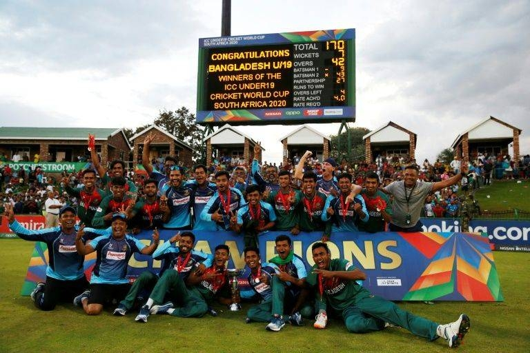 Bangladesh U-19 world champions return to a hero's welcome