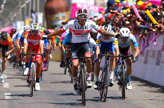 Colombia's Juan Sebastian Molano continued UAE Team Emirates' impressive start to the season by sprinting to victory on the second stage of the Tour Colombia on Wednesday.