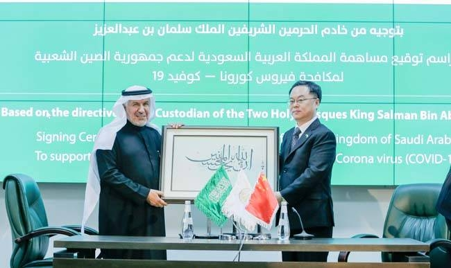 The King Salman Humanitarian Aid and Relief Center (KSRelief) signed on Thursday six joint contracts with a number of international companies for the provision of medical equipment and supplies to combat the novel Coronavirus (Covid-19) in China and that is in coordination with the Chinese embassy in the Kingdom.