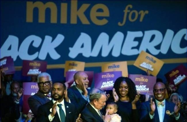 Former New York mayor Michael Bloomberg is hoping to rally the all-important black vote. —AFP