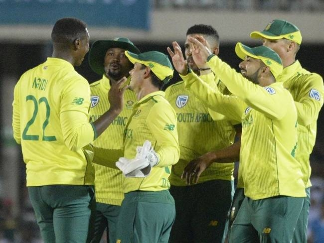 The South African team after winning a thriller against England. South Africa has decided to postpone a short tour of Pakistan, Cricket South Africa acting chief executive Jacques Faul said on Friday.