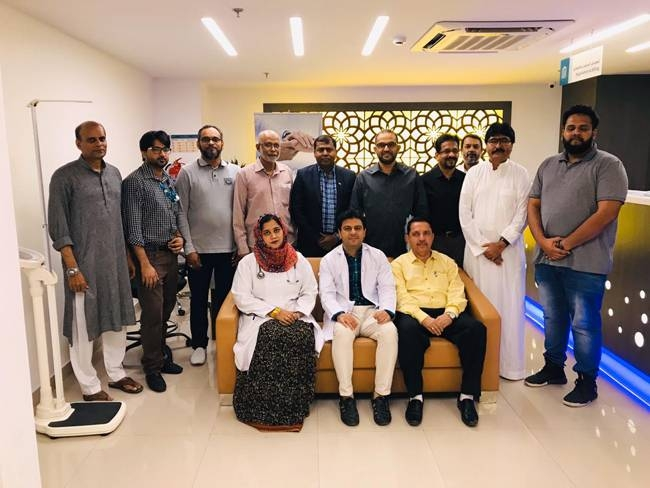 NRIs from Karnataka, as a part of their social and community welfare services, organized a free medical camp in association with Abeer Medical Center in Aziziyah.