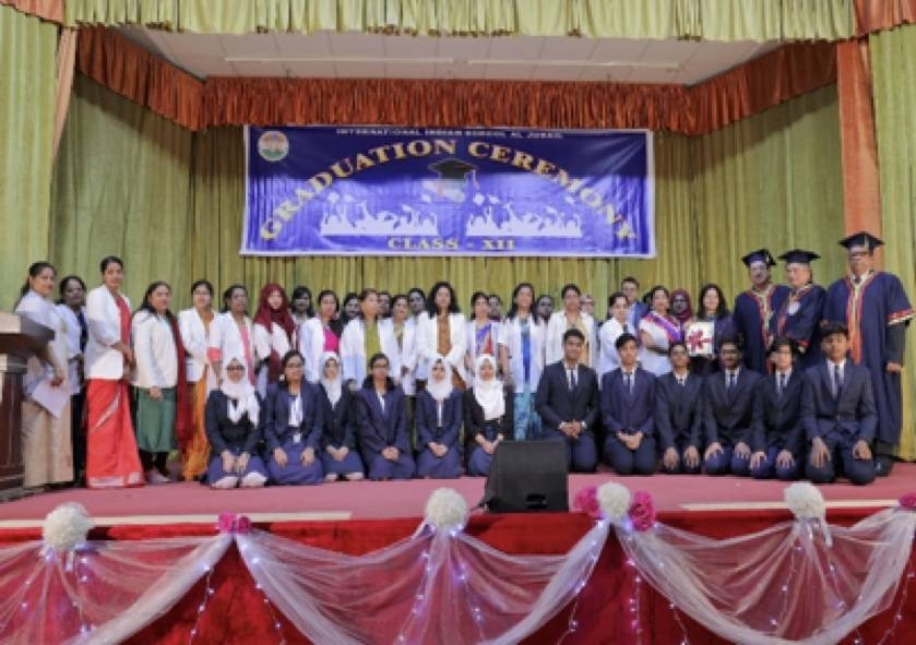 The International Indian School, Al Jubail celebrated its 3rd Graduation Day for students of class XII batch 2019, with 240 students along with their parents attending the ceremony to celebrate their success.