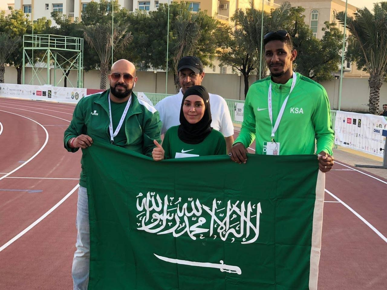 Raghad Al-Suleimani won a silver in the 5000m race.