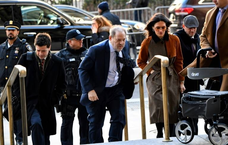 Harvey Weinstein arrives at Manhattan Criminal Court in New York in this Feb. 14, 2020 file photo. — AFP