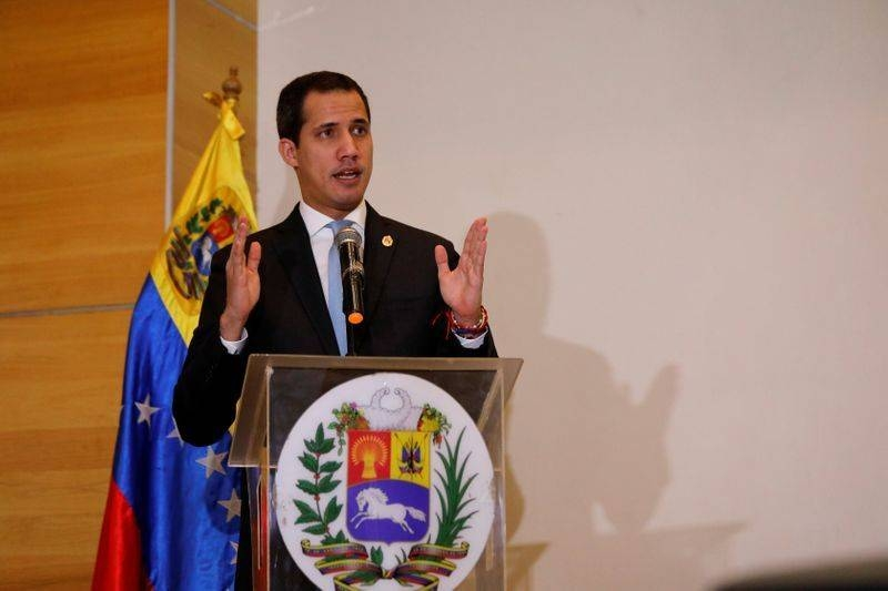 Venezuelan opposition leader Juan Guaido, who many nations have recognized as the country's rightful interim ruler, speaks during a news conference in Caracas, Venezuela, in this file picture. — Courtesy photo