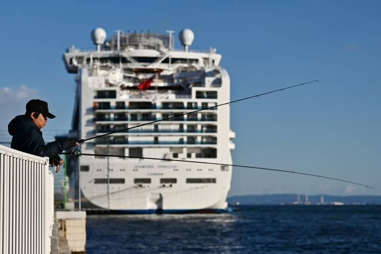 Around 12 percent of the people on board the Diamond Princess have no tested positive for the new coronavirus. — AFP