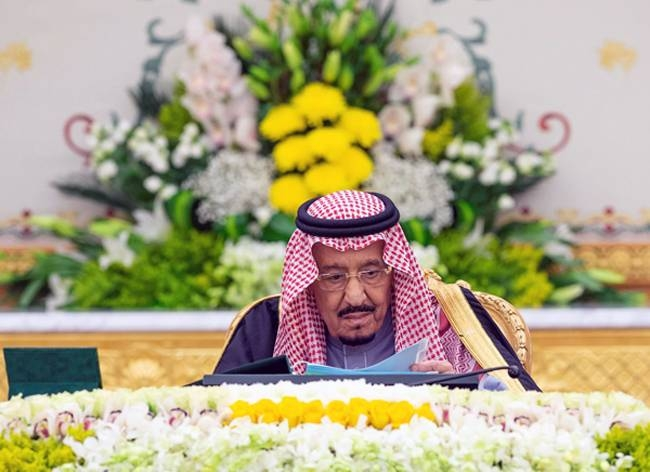 Custodian of the Two Holy Mosques King Salman chaired the Council of Ministers meeting at Al-Yamamah Palace in Riyadh on Tuesday. — SPA