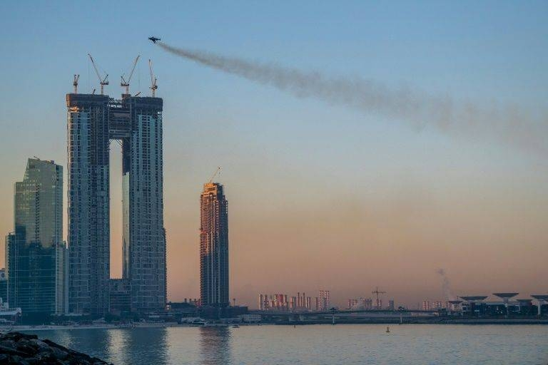 Reffet soared to heights of up to 1,800 meters (nearly 6,000 feet) over the skyscrapers of Dubai. — AFP