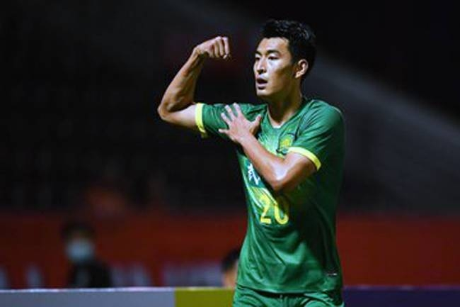 Wang Ziming, seen celebrating his goal, struck a blow for virus-hit Chinese football as he took Beijing Guoan past Chiangrai United 1-0 in the AFC Champions League on Tuesday.