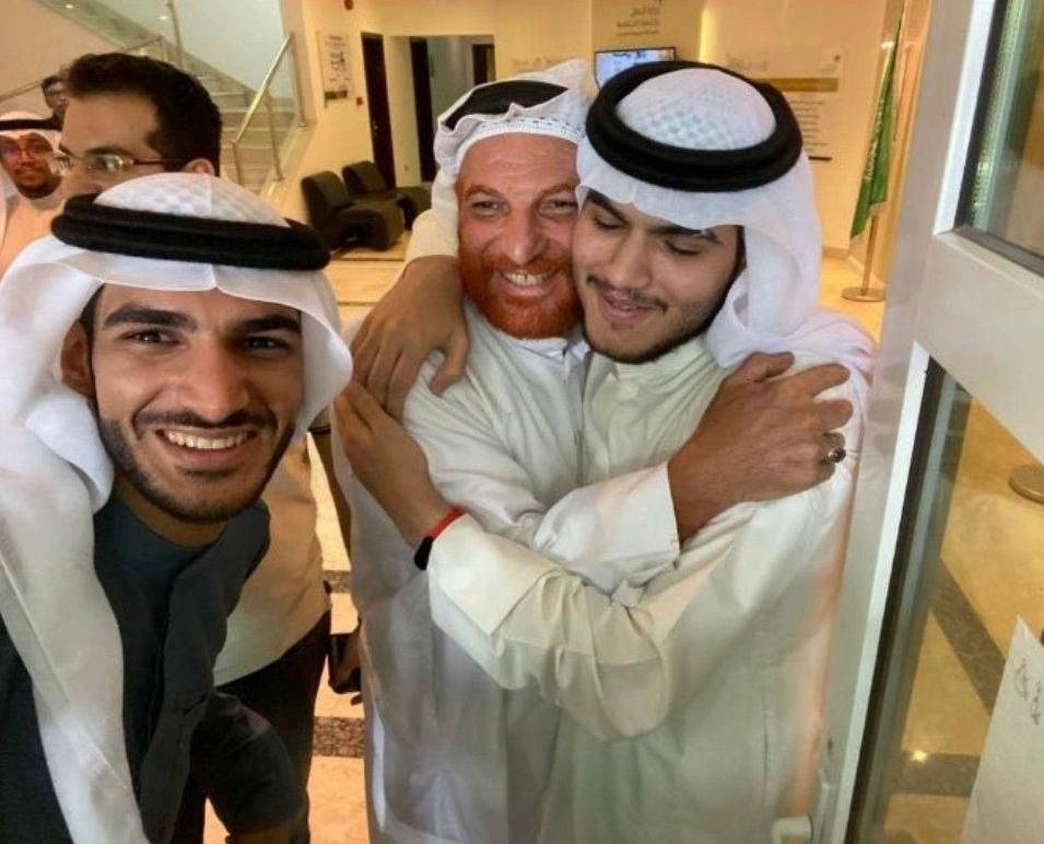 The joy of both, Saudi Ali Al-Khineizi, the father, and son Musa, at being reunited after 20 years following a DNA test match is evident in this picture.