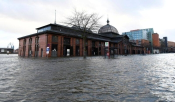 Famous landmark Fish Market is flooded as storm Sabine hits the harbor in Hamburg, Germany, in this file picture. — Courtesy photo