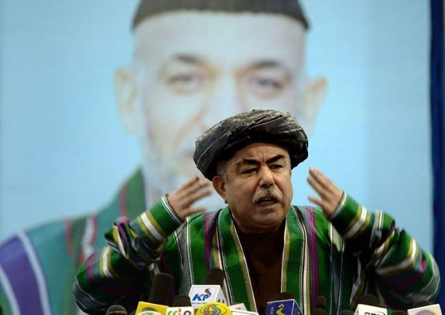 Afghan vice president Abdul Rashid Dostum has urged supporters to oppose the election result. — AFP