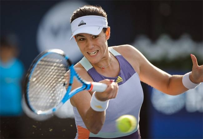 Ninth seed Garbine Muguruza took almost two-and-a-half hours to get past Russian Veronika Kudermetova to make the Dubai Tennis quarterfinals.