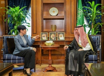 Minister of State for Foreign Affairs Adel Al-Jubeir holds talks with Norwegian Foreign Minister Ine Marie Eriksen Soreide in Riyadh. — SPA