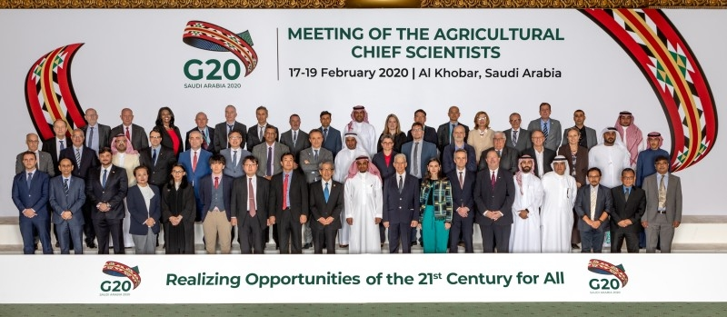 Agricultural scientists from the G20 countries, invited guest countries, and international organizations attended the 9th Meeting of Agricultural Chief Scientists (MACS) of the G20 in Alkhobar.