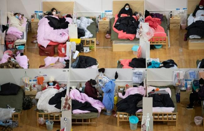 A temporary hospital set up in Wuhan, the centre of China's coronavirus outbreak. — AFP