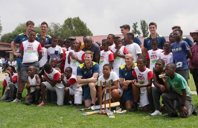 Steve Smith tweeted that a visit to a Soweto school for children with special needs was a