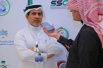 Professor Abdulrahman Alshaikh, president of the Saudi Scientific Diabetes Society, speaking at the event.