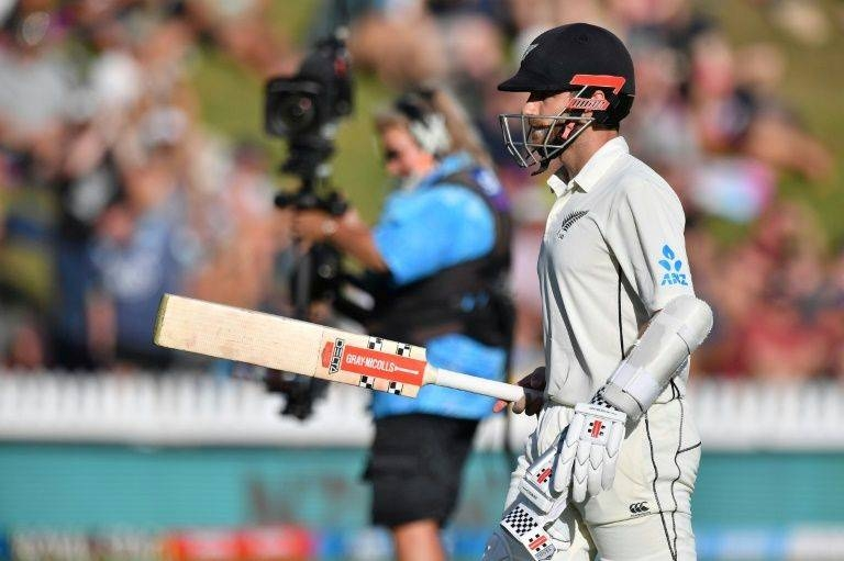 A 93-run third-wicket stand by Kane Williamson, pictured, and Ross Taylor was enough to lift New Zealand from 73-2 to be ahead of India's 165 before the tourists fought back. — AFP