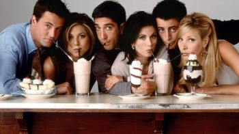 The cast of the hit US sitcom