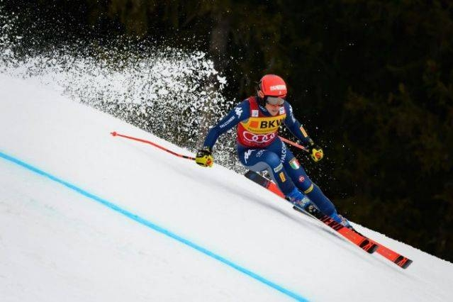 Federica Brignone finished over half a second ahead of slalom specialist Petra Vlhova. — AFP
