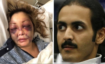 The file combination picture shows Sheikh Khalid Bin Hamad bin Khalifa Al Thani, the brother of the Emir of Qatar, right, and Abby Han, the girlfriend of Matthew Pittard who has filed a lawsuit against Qatari prince. — Courtesy photo
