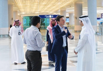 Stefano Baronci, director general of Airports Council International (ACI) for Asia and the Pacific region, at the new airport in Jeddah. — Courtesy photo