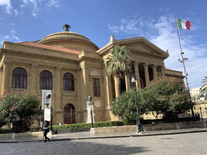 Teatro Massimo in the heart of Palermo, the biggest opera theater in Italy.