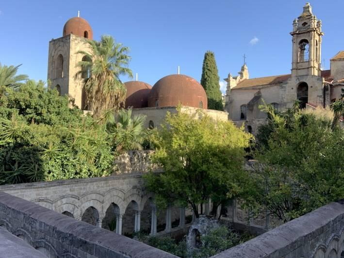Arab architecture in San Giovanni degli eremiti church in Palermo.