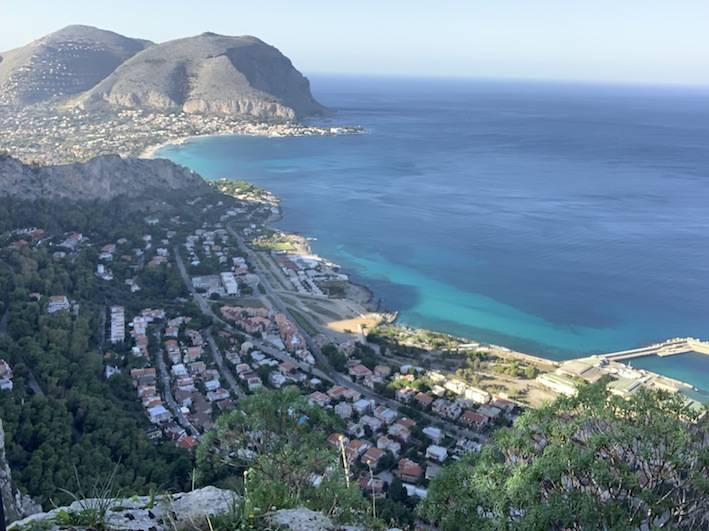 Addaura district & mondello beach, the picture was taken from top of mount Pellegrino on the Sicilian coast. — SG Photos by Abdulaziz Hammad.