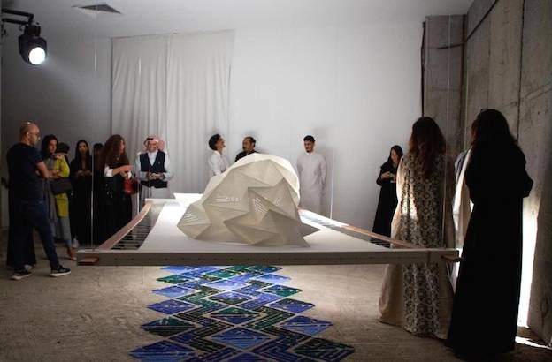 Visitors at the Saudi Art Council's flagship event, 21,39 Jeddah Arts.
