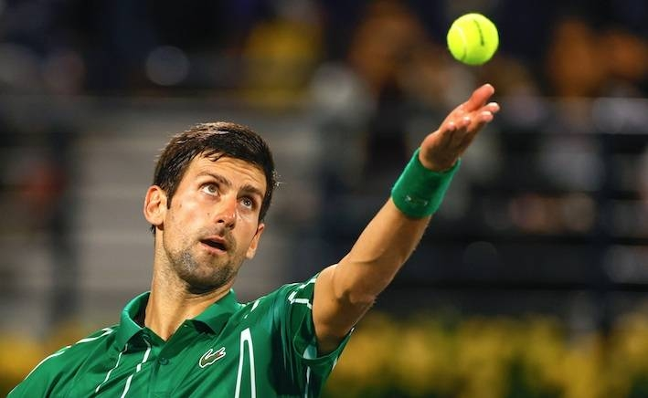 World No. 1 Novak Djokovic eased  into the Dubai quarterfinals with a 6-3, 6-1 demolition of Philipp Kohlschreiber in only 61 minutes on Wednesday.