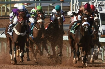 Jockeys compete at the King Abdulaziz Racetrack in Riyadh. The Pegasus World Cup was the richest in the world in 2018 worth $16 million surpassing the $12 million Dubai World Cup, but it was only worth $9 million this year. — Courtesy photo