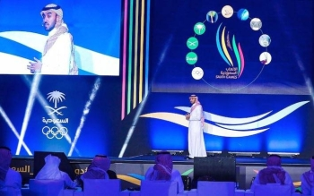 Prince Abdul Aziz Bin Turki Al-Faisal, minister of sports, announces the launch of the Saudi Olympic Games on Wednesday, a new competition that will start on March 24.
