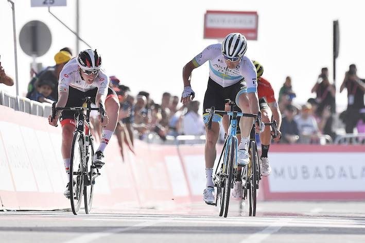 Slovenian Tadej Pogacar produced a stunning final sprint on the top of Jebel Hafeet to win the 162km fifth stage of the UAE Tour on Thursday.