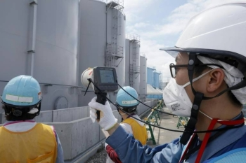 There are around a million tons of contaminated water stored in tanks at the site of the wrecked Fukushima Daiichi nuclear plant, and what to do with it is a major headache for Japan. — AFP