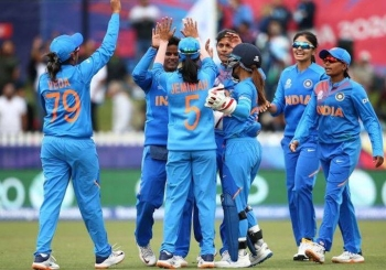 India earned a nail-biting four-run win over New Zealand as they reached the women's Twenty20 World Cup semifinals Thursday.