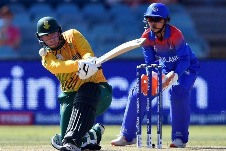 South Africa's Lizelle Lee hit a maiden T20 century against Thailand. — AFP