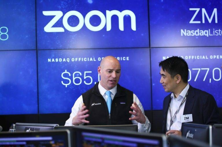Videoconferencing apps like Zoom are making it easier for employees to work remotely to reduce the risk of spreading the coronavirus. — AFP