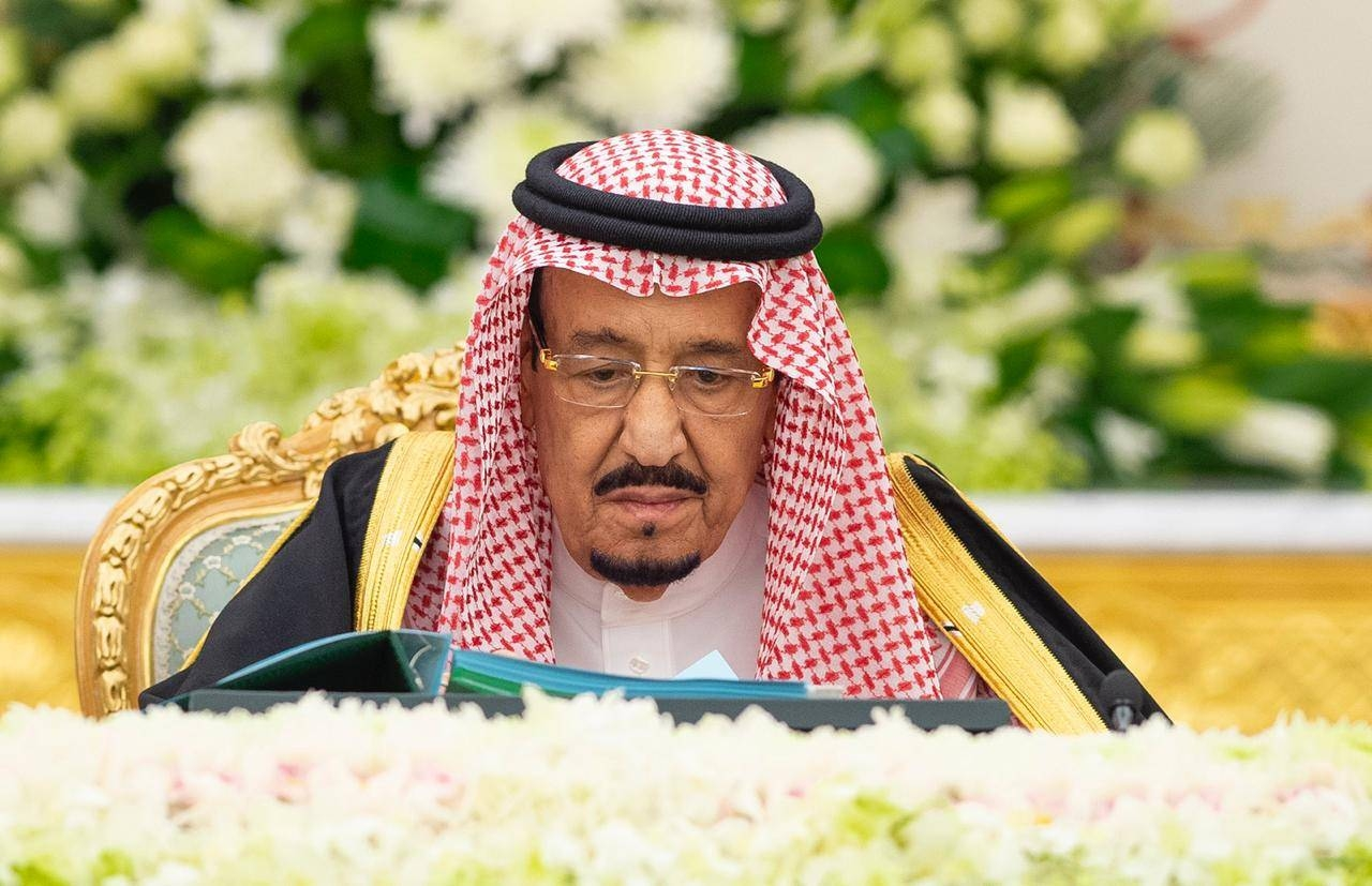 Custodian of the Two Holy Mosques King Salman chairs the weekly session of the Cabinet at Al-Yamamah Palace in Riyadh. — SPA