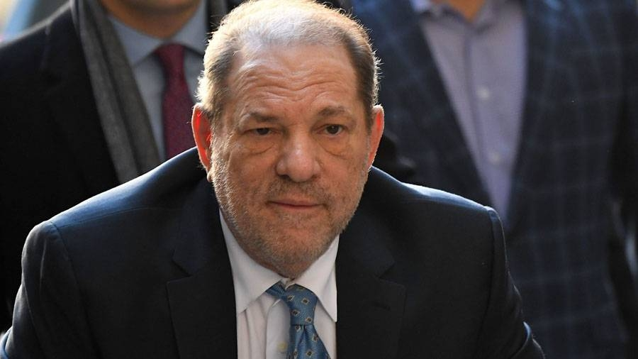 Harvey Weinstein arrives at the Manhattan Criminal Court in New York City in this Feb. 24, 2020 file photo. — AFP