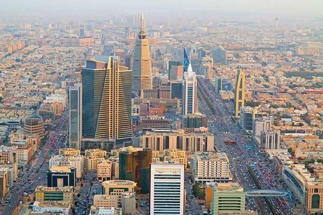 A view of the Riyadh city.