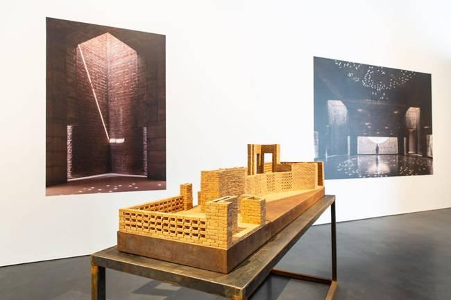 Installation view of Jameel Prize 5 Marina Tabassum at Jameel Arts Centre, Dubai.