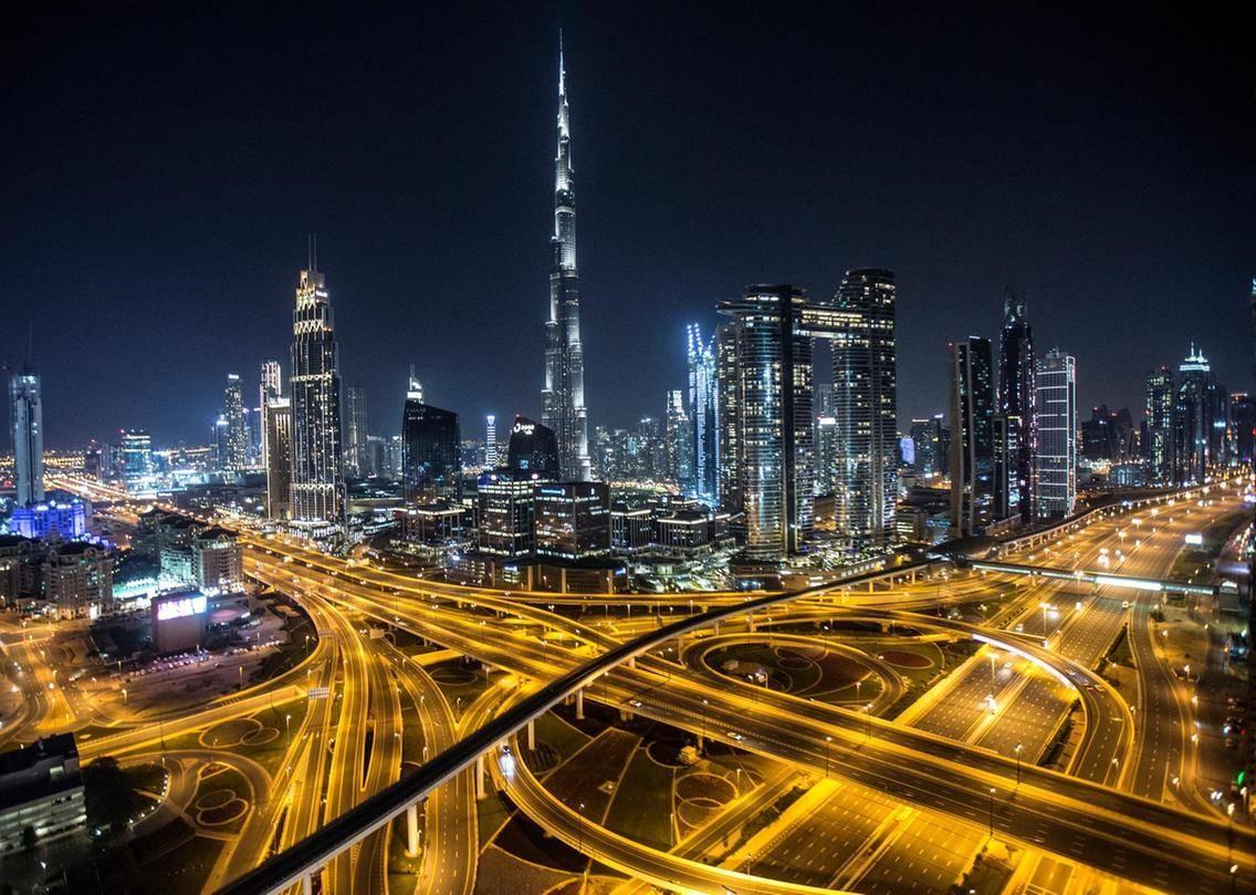 Deserted streets in Dubai. -- Courtesy photo