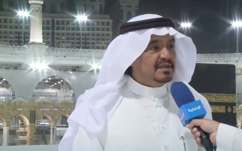 Saudi Arabia's Minister of Haj and Umrah Dr. Muhammad Saleh Benten speaking on Al-Ekhbariya television on Tuesday