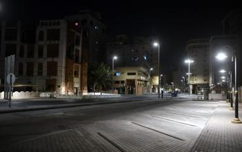 A shot of empty streets of Jeddah amid coronavirus outbreak. — SPA