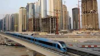 The Dubai Metro were suspended Sunday. -- File photo