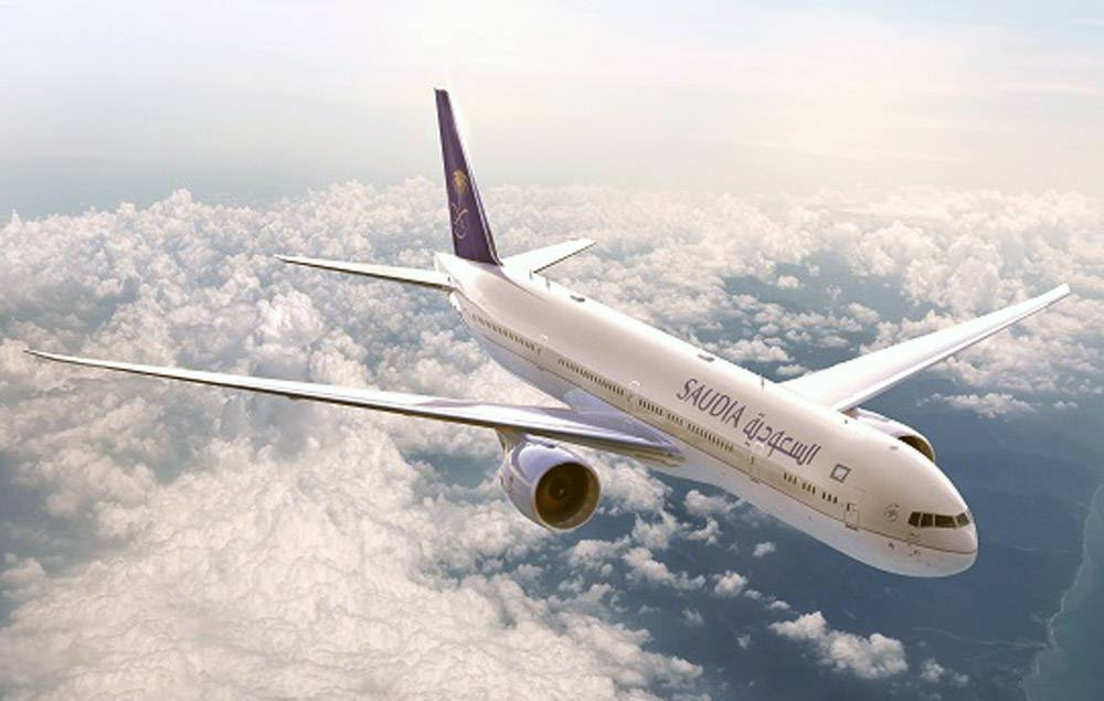 File photo of one of the planes in Saudi Arabian Airlines fleet.